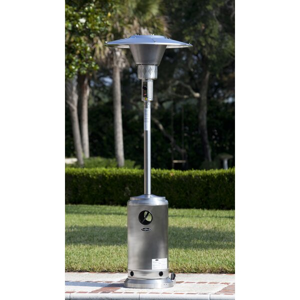 Fire Sense Stainless Steel Prime Round 45,000 BTU Propane Patio Heater U0026  Reviews | Wayfair