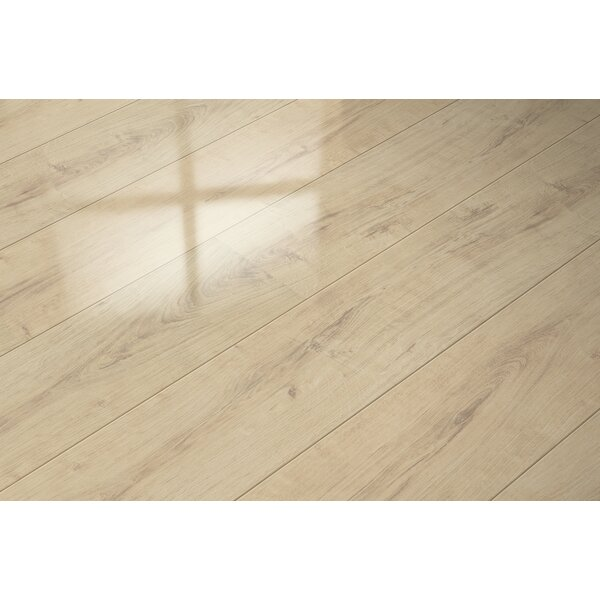 7 x 51 x 9mm Oak Laminate Flooring in Beige by ELESGO Floor USA