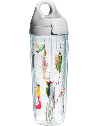 Great Outdoors Fishing Lures Plastic Water Bottle by Tervis Tumbler