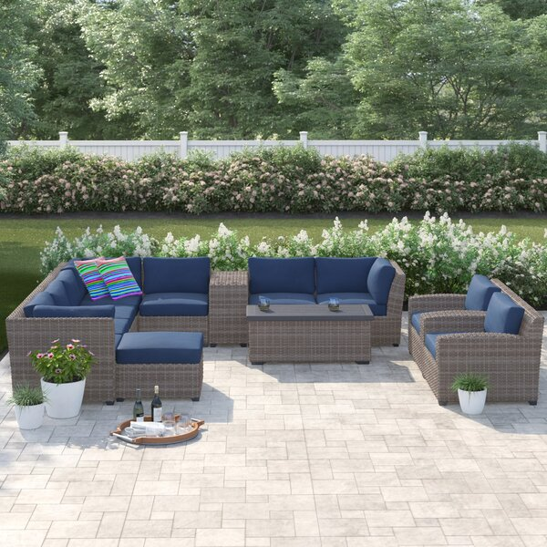 Merlyn 12 Piece Sectional Seating Group with Cushions by Sol 72 Outdoor