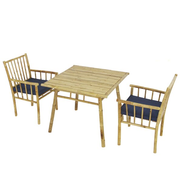 Kridia 3 Piece Bistro Set with Cushions by Bay Isle Home