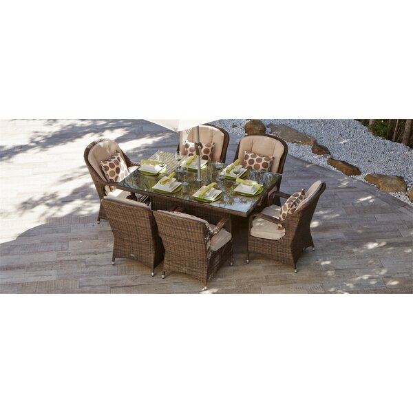 Guevara 7 Piece Outdoor Dining Set with Cushions by August Grove