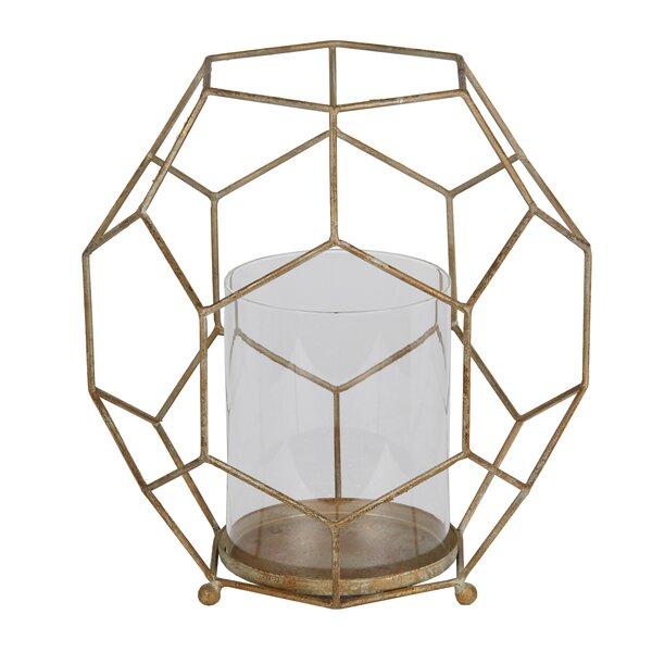Metal/Glass Lantern by Mercury Row