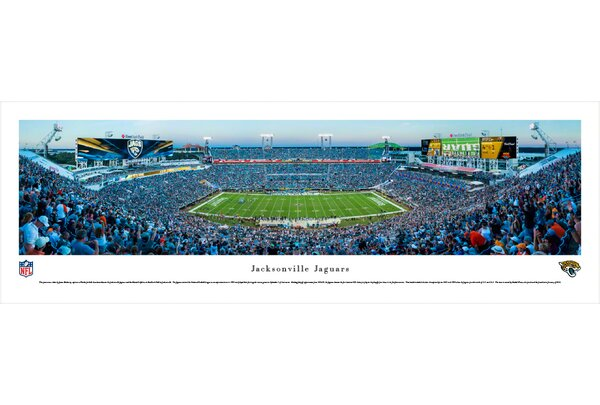 NFL Jacksonville Jaguars - 50 Yard Line by James Blakeway Photographic Print by Blakeway Worldwide Panoramas, Inc