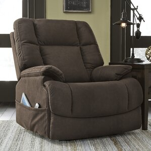Etna Adjustable Headrest Power Recliner by Latitude Run