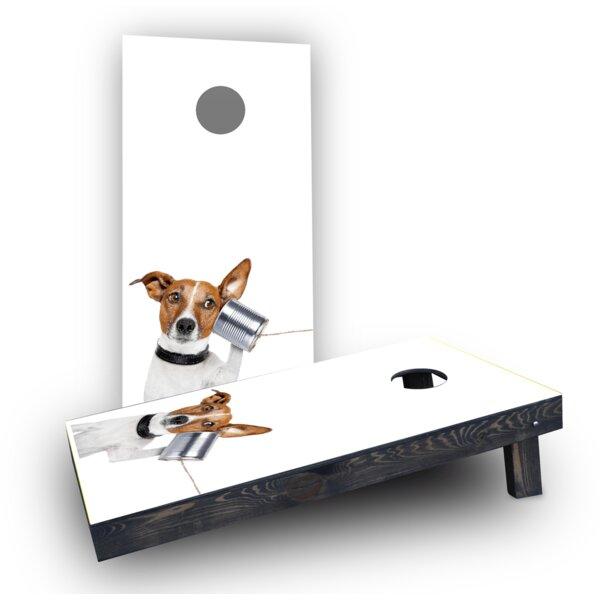 Dog Phone Cornhole Boards (Set of 2) by Custom Cornhole Boards