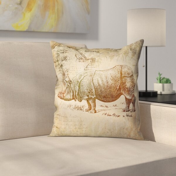 Vintage Animal Color 9 Throw Pillow by East Urban Home