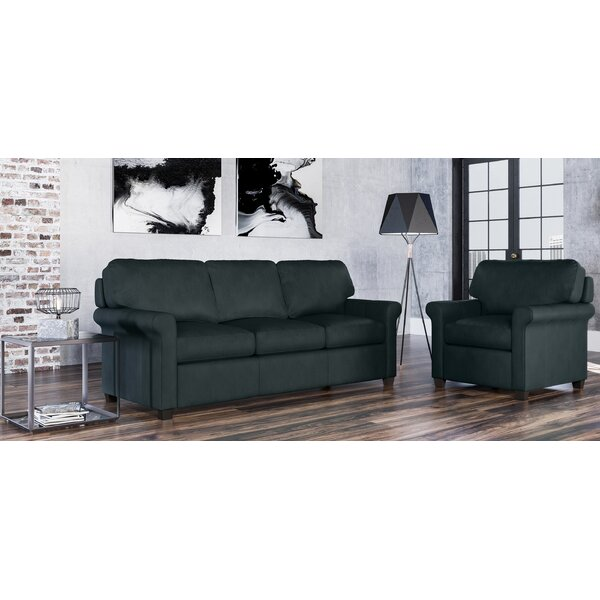 Menno 2 Piece Leather Living Room Set by Westland and Birch