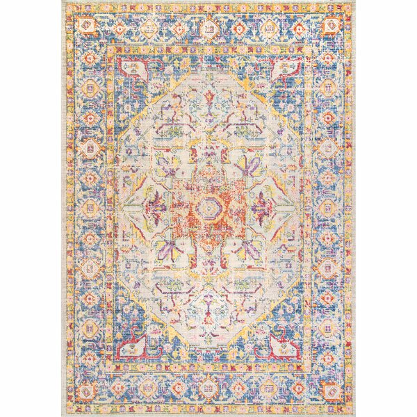 Shenandoah Blue/Yellow Area Rug by Bungalow Rose