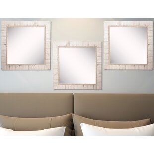 Find Vinson Tuscan Ivory Wall Mirror (Set of 3) By Ophelia & Co.