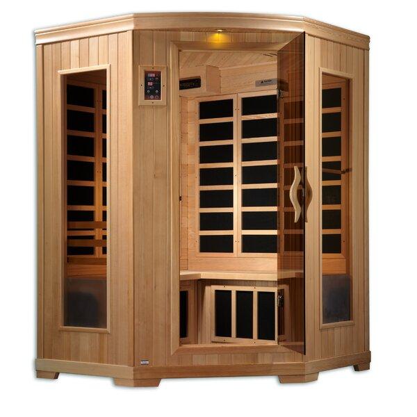 Corner Carbon 3 Person FAR Infrared Sauna by QCA Spas