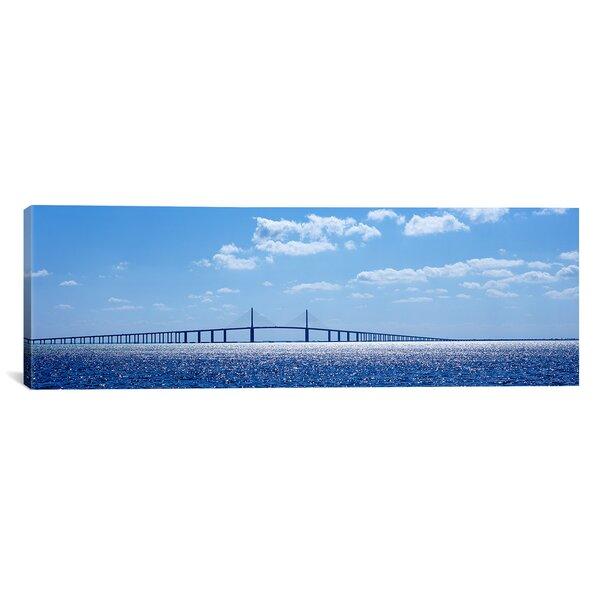 Panoramic Sunshine Skyway Bridge, Tampa Bay, Florida Photographic Print on Canvas by iCanvas