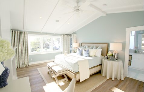 Chambre à coucher de style nautique