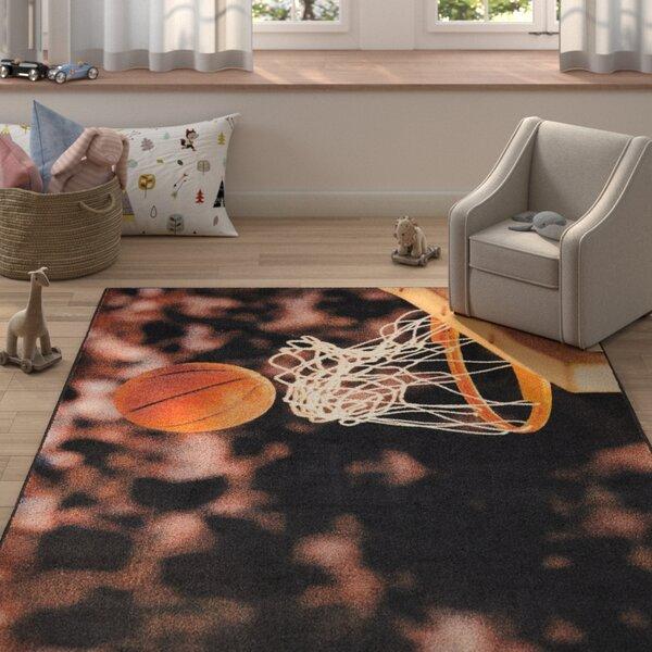 Engler Basketball Hoop Brown/Beige Area Rug by Zoomie Kids