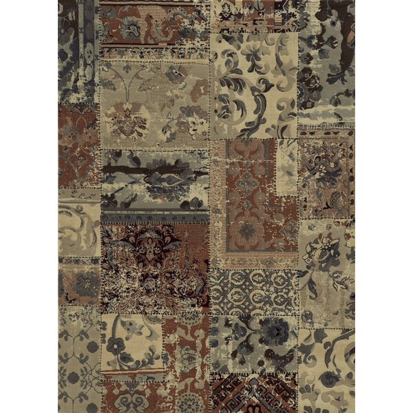 Gray/Ivory/Brown Area Rug by The Conestoga Trading Co.