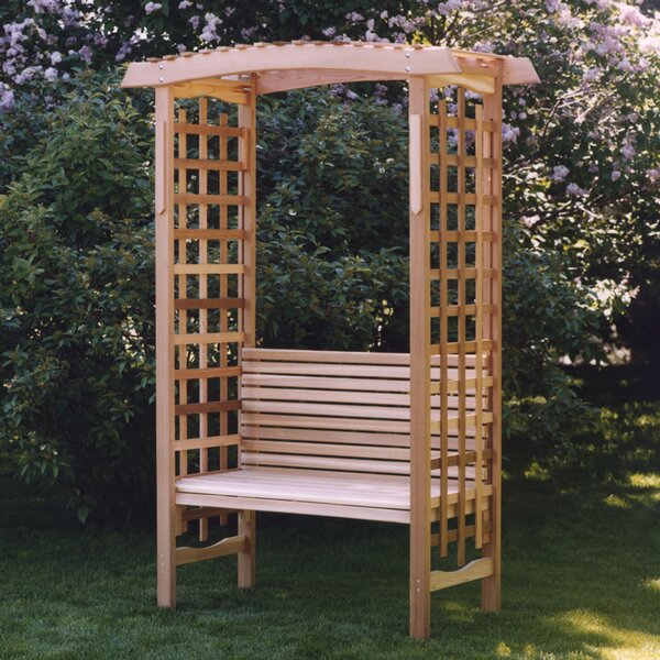 Garden Wood Arbor with Bench by All Things Cedar