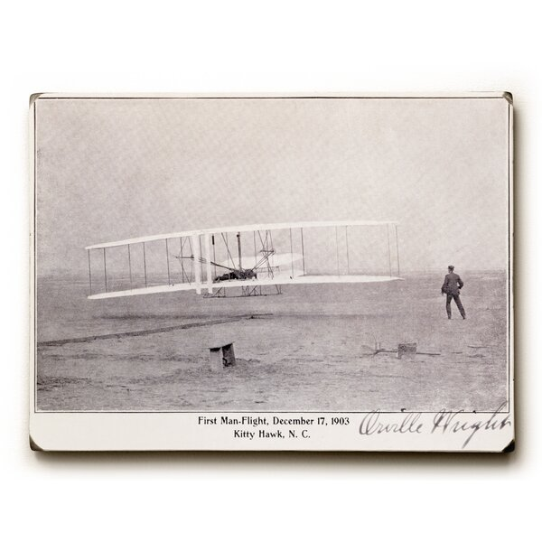 Wright Brothers Flight at Kitty Hawk Graphic Art by Artehouse LLC