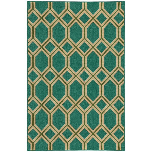 Seaside Teal & Green Area Rug by Tommy Bahama Home