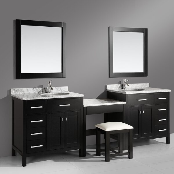 Middletown 102 Double Bathroom Vanity Set with Mirror by Andover Mills