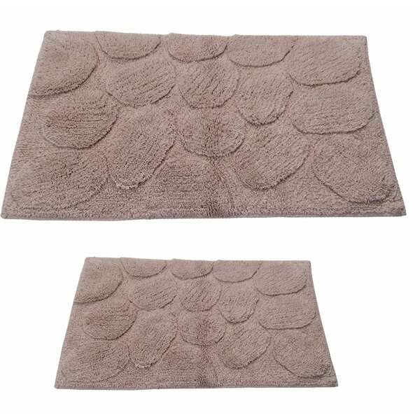 Pheobe Palm Spray Rectangle 100% Cotton piece Bath Rug Set