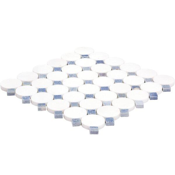 Orbit Random Sized Marble Mosaic Tile in Satellite by Splashback Tile