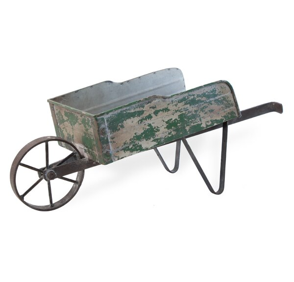 Ferebee Metal Wheelbarrow Planter by August Grove