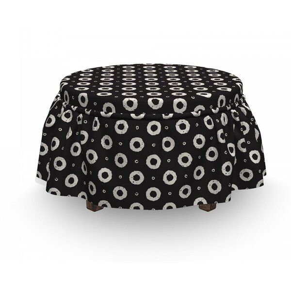 Donut Shapes Ottoman Slipcover (Set Of 2) By East Urban Home