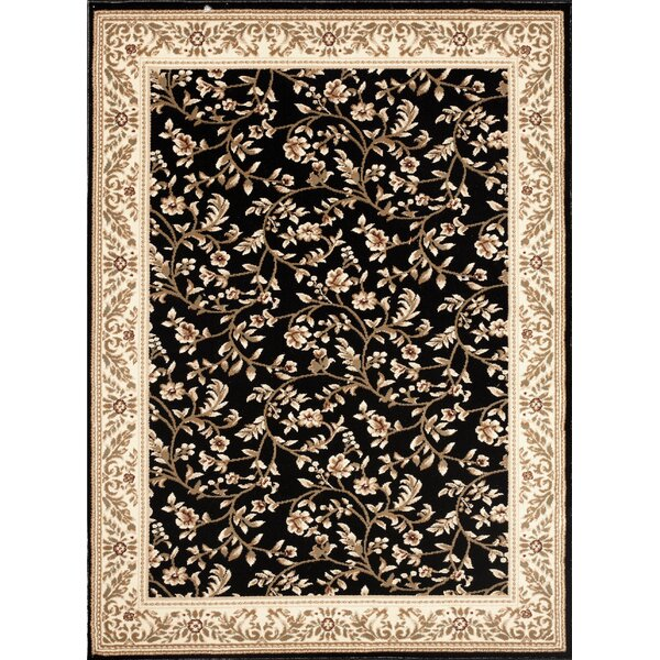 Classique Black Area Rug by World Rug Gallery
