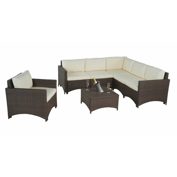 Mackinac 7 Piece Sectional Seating Group with Cushions by Ebern Designs