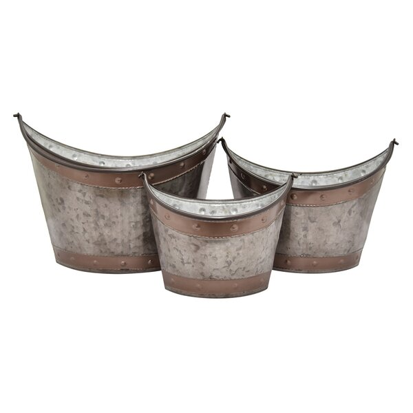 Farthing 3 Piece Pot Planter Set by Millwood Pines