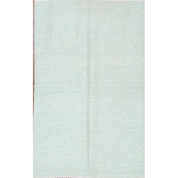 Marisol Kilim Moroccan Oriental Hand-Woven Wool Blue Area Rug by Bungalow Rose