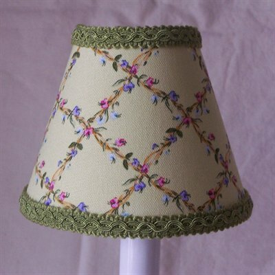 Flower Fantasy 11 Fabric Empire Lamp Shade by Silly Bear Lighting