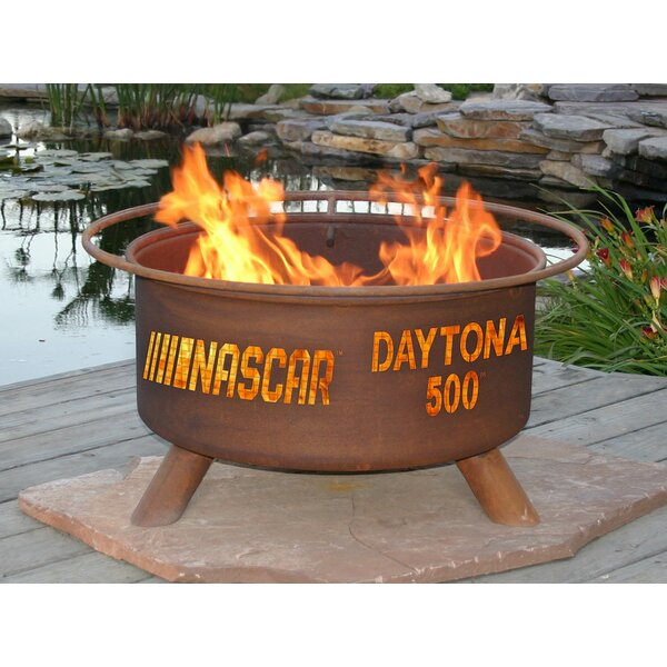 Nascar Daytona 500 Steel Charcoal Fire Pit by Patina Products