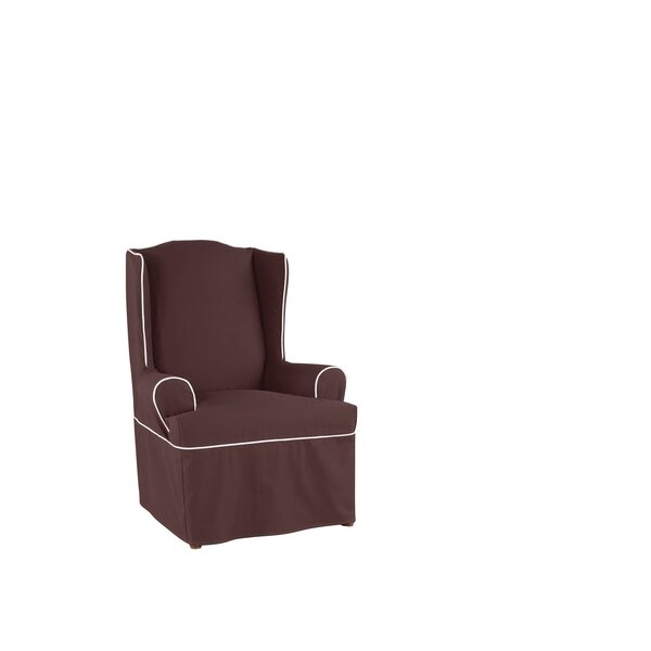 Monaco Tailored T-Cushion Wingback Slipcover by Sure Fit