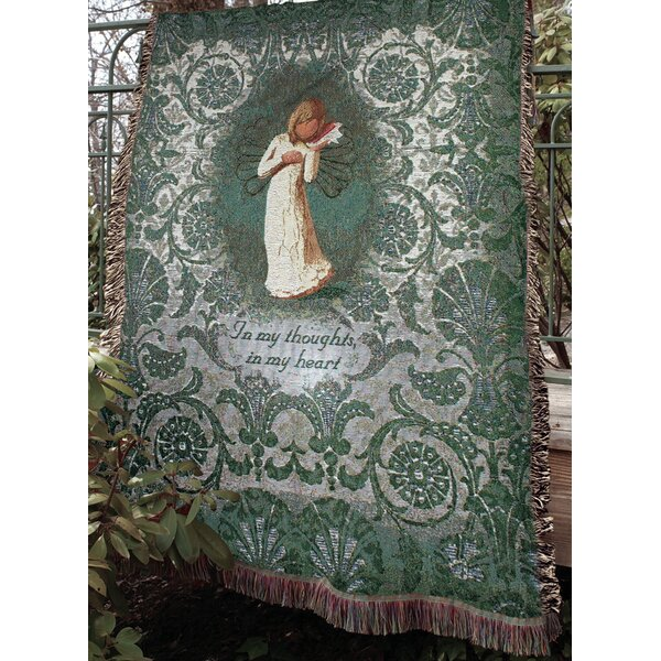 Willow Tree Thinking of You Tapestry Cotton Throw by Manual Woodworkers & Weavers