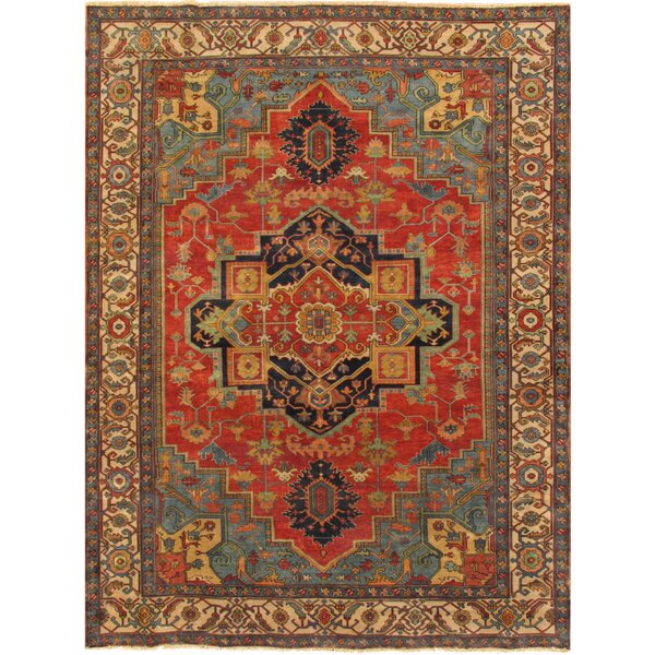 Serapi Hand-Knotted Rust/Ivory Area Rug by Pasargad