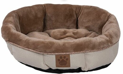 Maxine Rustic Elegance Round Shearling Bed by Tucker Murphy Pet