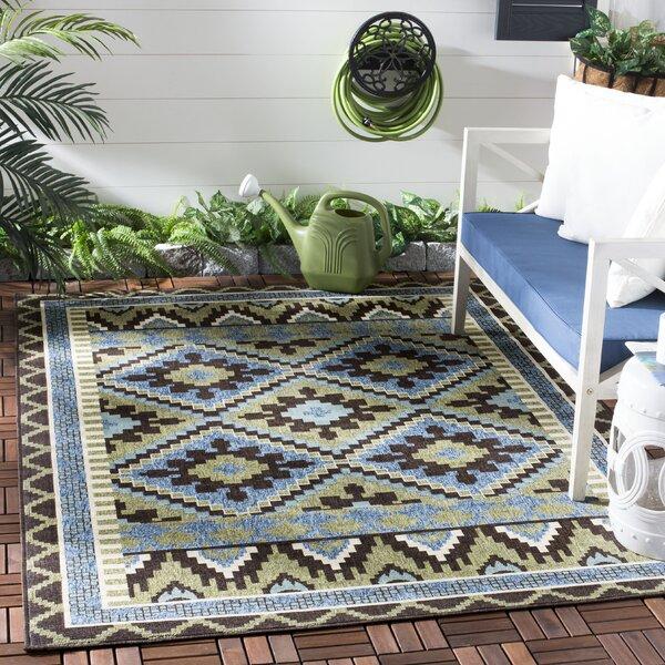 Rangely Brown/Green Indoor/Outdoor Area Rug
