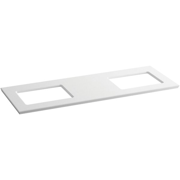 Solid/Expressions 62 Double Bathroom Vanity Top by Kohler