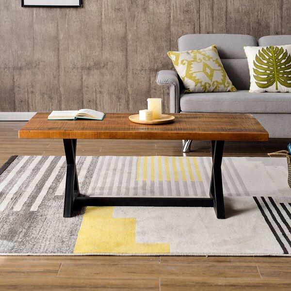 Debrah Cross Legs Coffee Table By Union Rustic