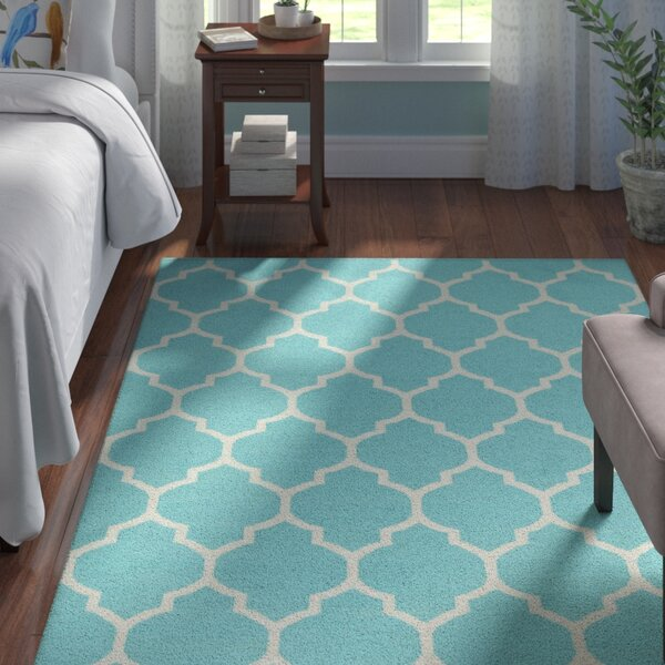 Bohannon Teal Geometric Area Rug by Andover Mills