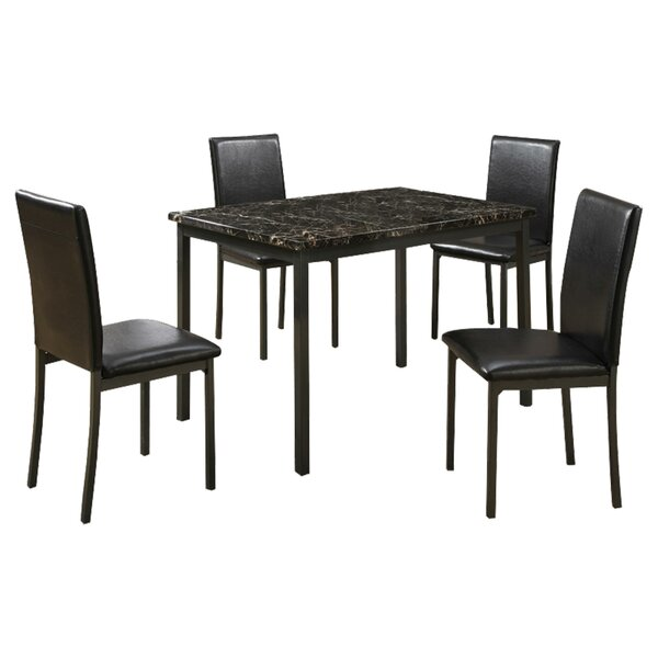 Chilson Faux Marble And Metal Frame 5 Pieces Dining Set By Ebern Designs Spacial Price