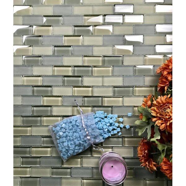 Abolos Free Flow 1 x 2 Glass Brick Mosaic Wall Tile