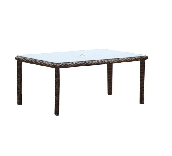 Sperber  Glass  Dining Table by Bay Isle Home