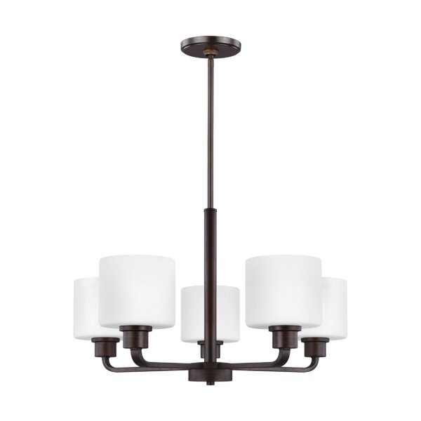 Finbar 5 - Light Shaded Classic / Traditional Chandelier by Andover Mills Andover Mills