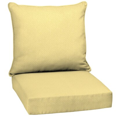 2 Piece Outdoor Lounge Chair Cushion Set