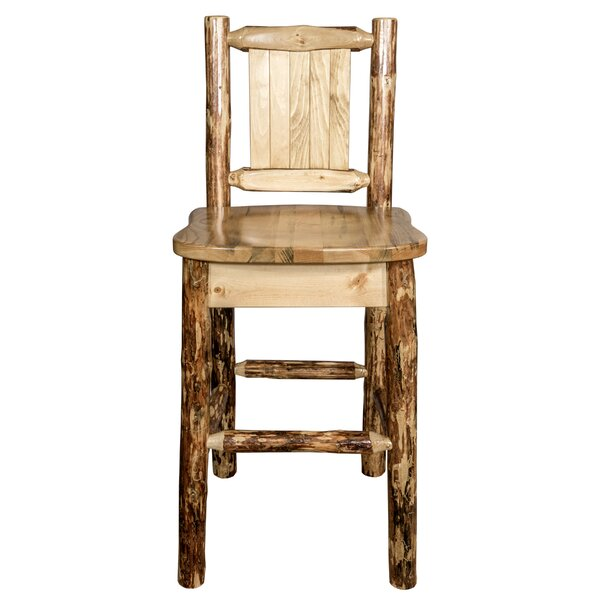 Southborough 24 Pine Wood Bar Stool by Loon Peak