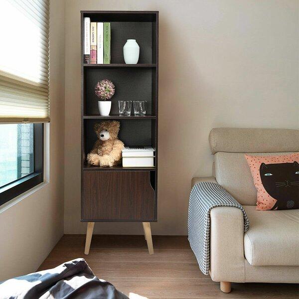 Fulcher 4-Shelf Storage Cabinet Standard Bookcase By Union Rustic
