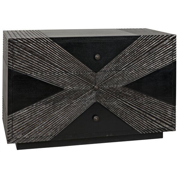 X Dresser 3 Drawer Dresser by Noir Noir