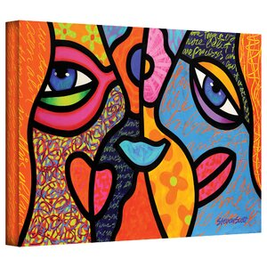 'Eye to Eye' by Steven Scott Print of Painting on Canvas by ArtWall